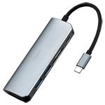 雷柏XD120 USB-C 6口扩展坞分线转换器 转接数据线/雷柏